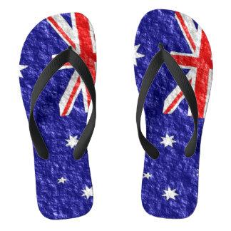 Australian Flag Design Flip Flops