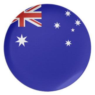 Australian flag dinner plate