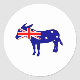 Australian Flag - Donkey Classic Round Sticker