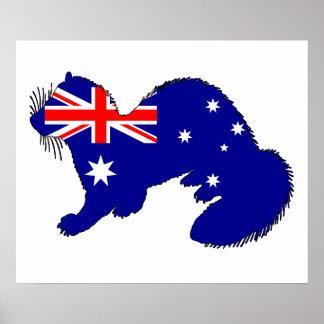 Australian Flag - Ferret Poster