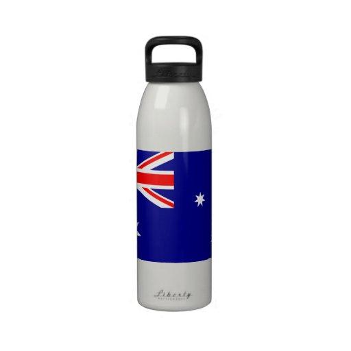 Australian Flag - flag of Australia Reusable Water Bottle