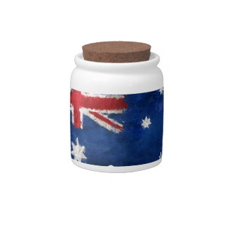 Australian Flag Graffiti Candy Dish