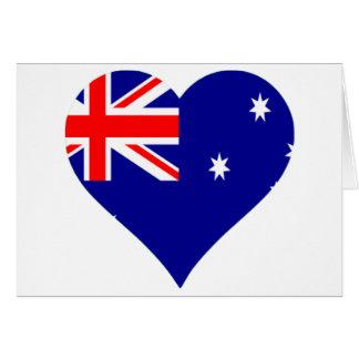 Australian Flag Heart Card