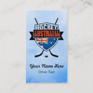 Australian flag business cards templates zazzle australian flag ice hockey custom business cards reheart Choice Image