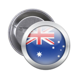 Australian Flag in Orb 2 Inch Round Button