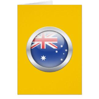 Australian Flag in Orb Greeting Card