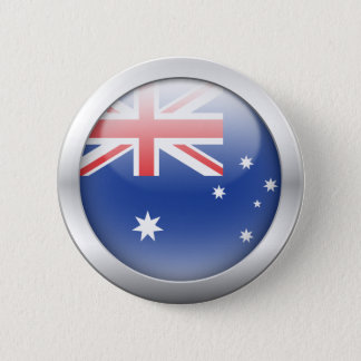 Australian Flag in Orb Pinback Button
