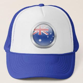 Australian Flag in Orb Trucker Hat