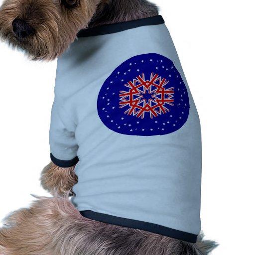 Australian Flag Kaleidoscope  Design Dog T Shirt