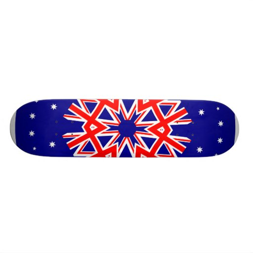 Australian Flag Kaleidoscope  Design Skate Board Deck