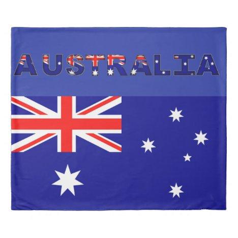 Australian Flag King Size Duvet Cover