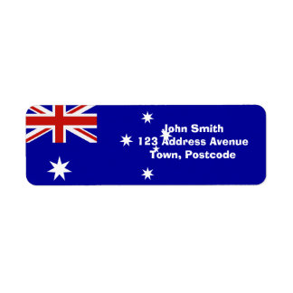 Australian flag label