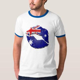 Australian Flag Lips T-Shirt