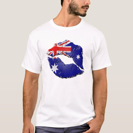 Australian Flag Lips T-Shirt