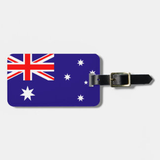 Australian flag luggage tag for bags and suitcases