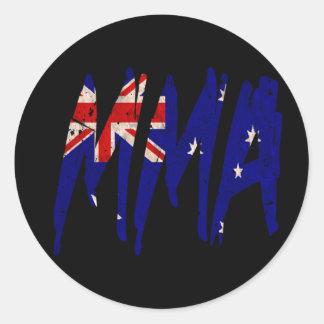 Australian Flag MMA Classic Round Sticker
