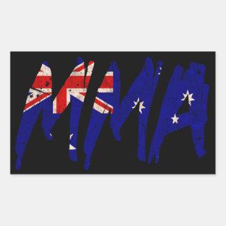 Australian Flag MMA Sticker