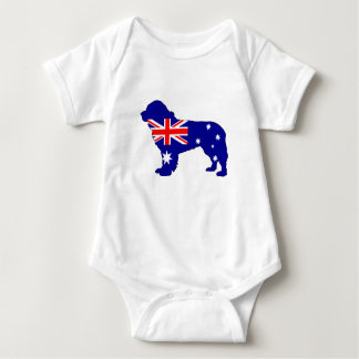 Australian Flag - Newfoundland Dog Baby Bodysuit