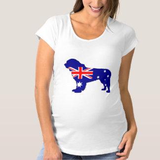 Australian Flag - Newfoundland Dog Maternity T-Shirt