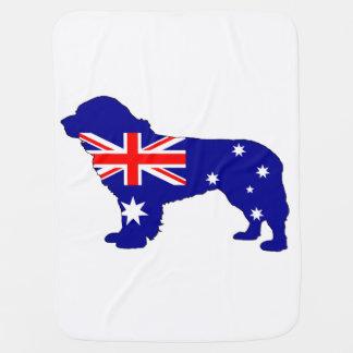 Australian Flag - Newfoundland Dog Receiving Blanket