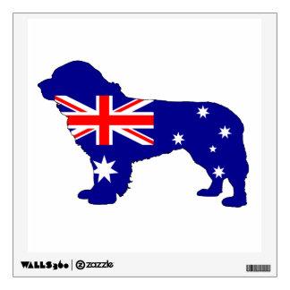 Australian Flag - Newfoundland Dog Wall Decal