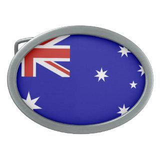 Australian flag oval belt buckles