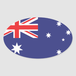 Australian Flag Oval Sticker