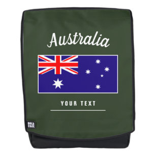 e548c8b4fc Australian flag personalized office and school backpack