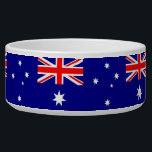 """Australian Flag Pet Bowl<br><div class=""""desc"""">Awesome Pet Bowl with Flag of Australia,  United States of America. This product its customizable.</div>"""