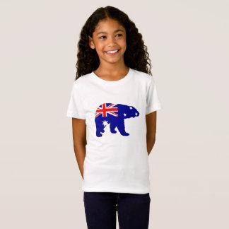 Australian Flag - Polar Bear T-Shirt