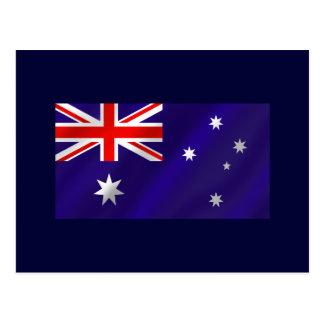 Australian flag shaded for Aussies down under Postcard