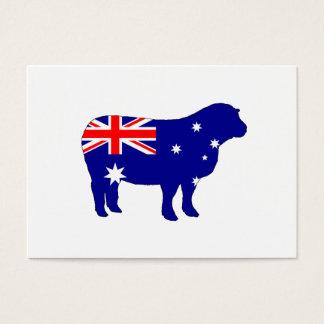 Australian Flag - Sheep Business Card