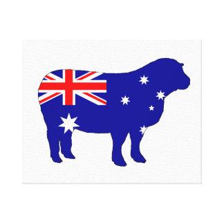 Australian Flag - Sheep Canvas Print