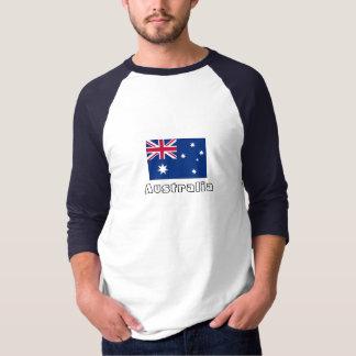 Australian flag sleeve raglan tee shirt