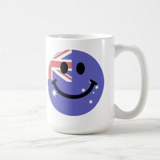 Australian flag smiley face coffee mug