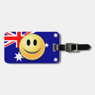 Australian Flag Smiley Face Luggage Tag