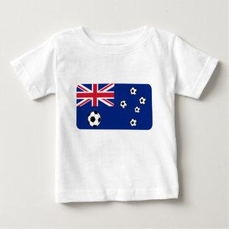 Australian Flag Soccer Balls Baby T-Shirt