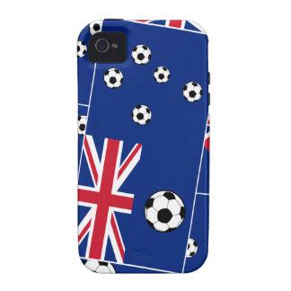 Australian Flag Soccer Balls Case-Mate iPhone 4 Cases