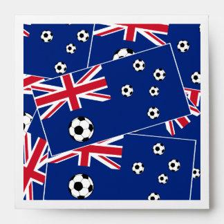 Australian Flag Soccer Balls Envelope