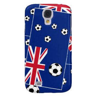Australian Flag Soccer Balls Galaxy S4 Case