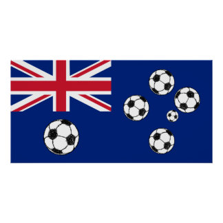 Australian Flag Soccer balls Poster