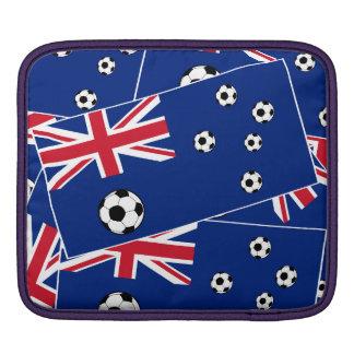 Australian Flag Soccer Balls Sleeve For iPads