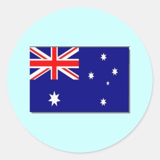 Australian Flag Classic Round Sticker