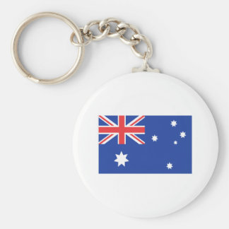 Australian Flag T-shirts and Gifts Basic Round Button Keychain