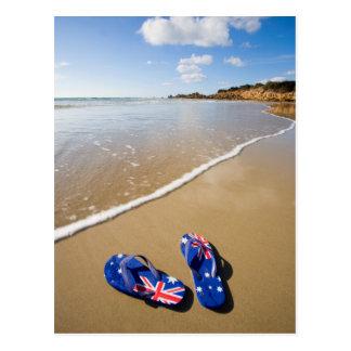 Australian Flag Thongs On Beach | South Wales Postcard