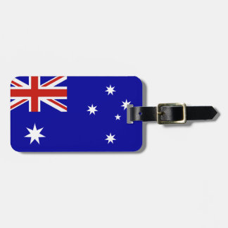 Australian flag travel bag tags