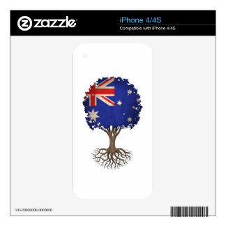 Australian Flag Tree of Life Customizable Decals For The iPhone 4