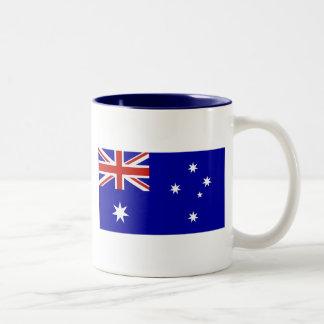 Australian flag Two-Tone coffee mug