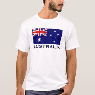 Australian Flag with Australia Wording World Flag T-Shirt