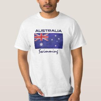 Australian Flag with Custom Team Sports T-Shirt